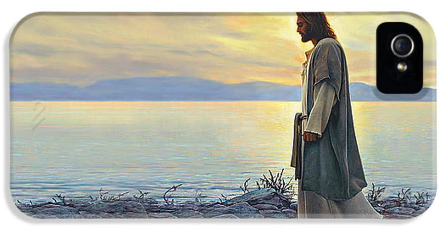 Jesus IPhone 5 / 5s Case featuring the painting Walk With Me by Greg Olsen