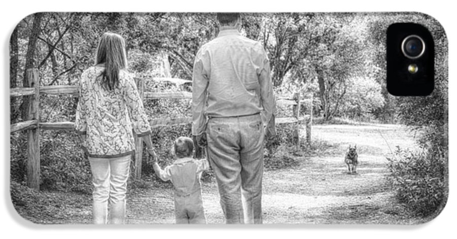 Family Portrait Print IPhone 5 Case featuring the photograph Walking Into The Light by Kristina Deane