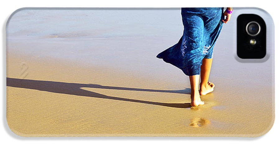 Activity IPhone 5 Case featuring the photograph Walking On The Beach by Carlos Caetano
