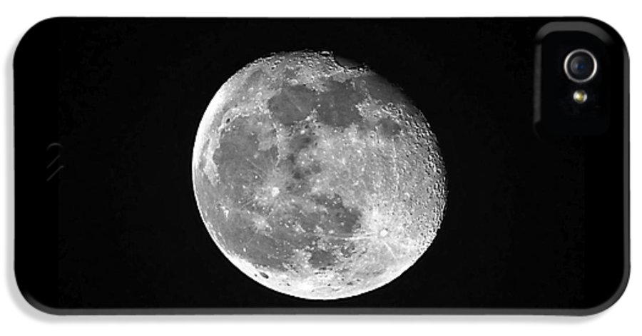 Moon IPhone 5 Case featuring the photograph Waning Pink Moon by Al Powell Photography USA