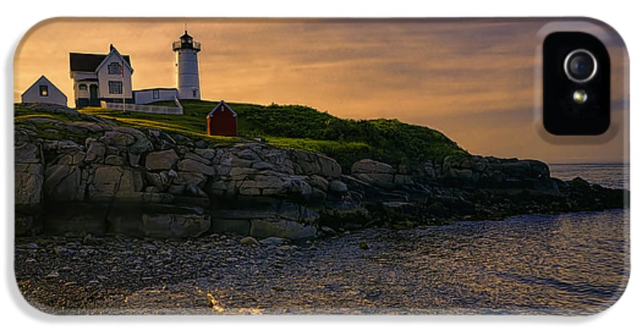 Joan Carroll IPhone 5 Case featuring the photograph Warm Nubble Dawn by Joan Carroll