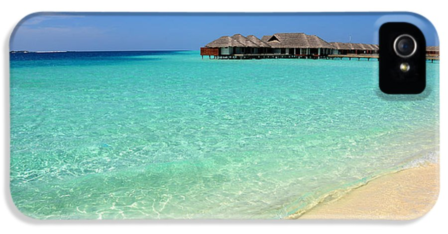 Maldives IPhone 5 Case featuring the photograph Warm Welcoming. Maldives by Jenny Rainbow