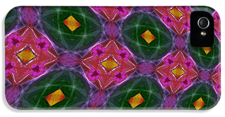 Kaleidoscopic IPhone 5 Case featuring the photograph Warped Kaleidoscopic Lattice by Gregory Scott