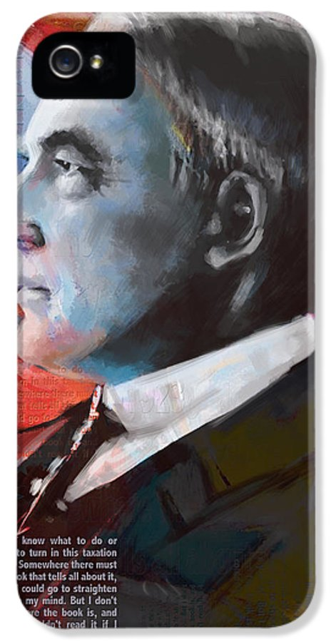 Warren G. Harding IPhone 5 Case featuring the painting Warren G. Harding by Corporate Art Task Force