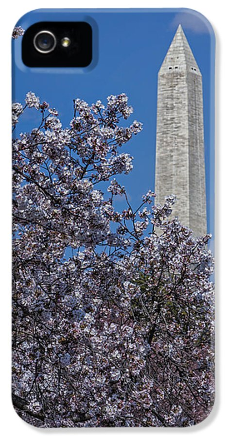 Washington IPhone 5 Case featuring the photograph Washington Monument by Susan Candelario