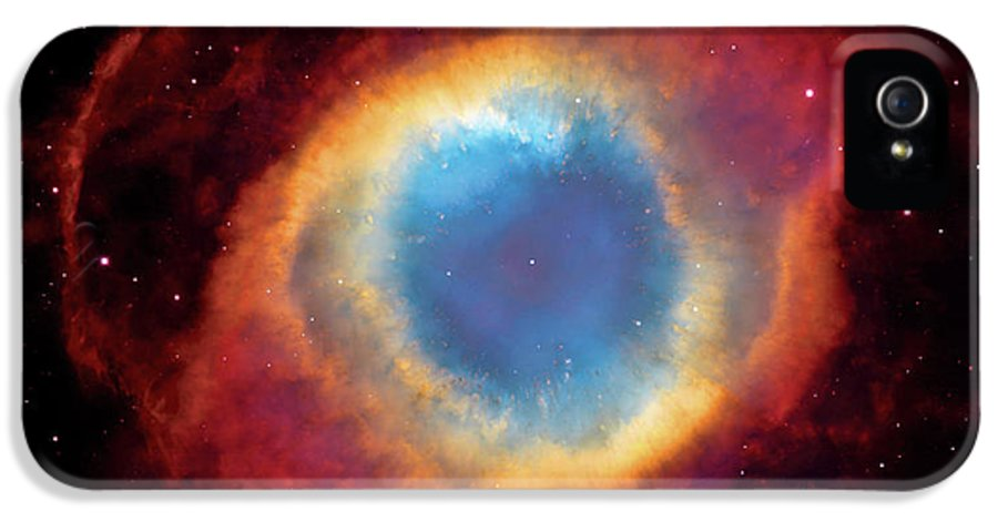 Universe IPhone 5 Case featuring the photograph Watching - Helix Nebula by Jennifer Rondinelli Reilly - Fine Art Photography