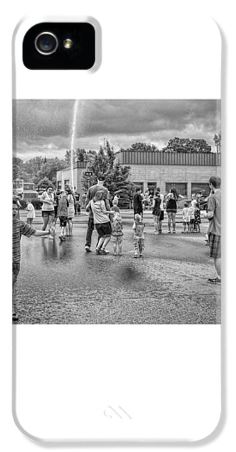 People IPhone 5 Case featuring the photograph Water Fight by David Coats