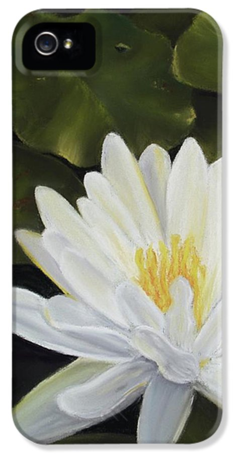 Waterlily IPhone 5 Case featuring the pastel Water Lily by Joan Swanson