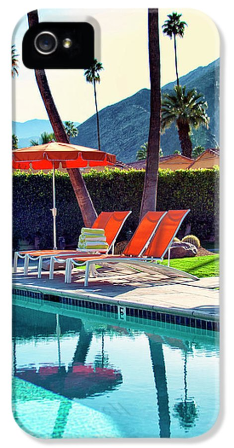 Pool IPhone 5 Case featuring the photograph Water Waiting Palm Springs by William Dey