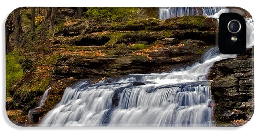 Childs Park IPhone 5 Case featuring the photograph Waterfalls In The Fall by Susan Candelario