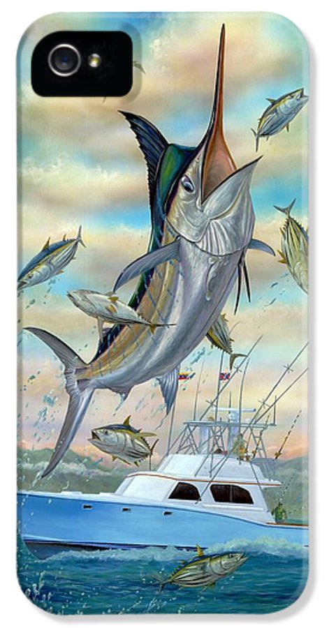 Blue Marlin IPhone 5 Case featuring the painting Waterman by Terry Fox