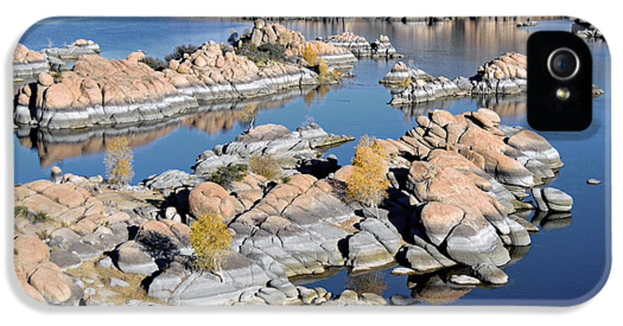 Lake IPhone 5 Case featuring the photograph Watson Lake And The Granite Dells by Jim Chamberlain