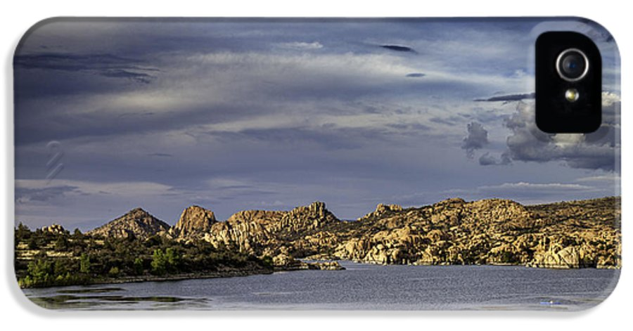 Arizona IPhone 5 Case featuring the photograph Watson Lake by James Bethanis