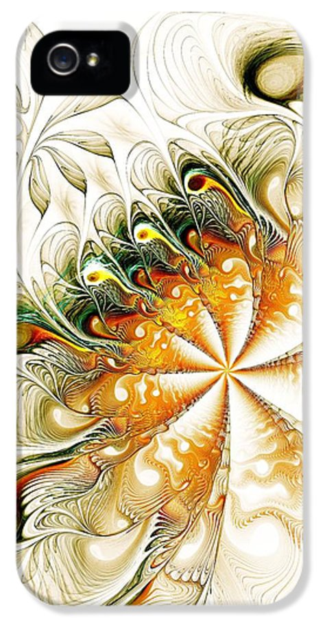 Malakhova IPhone 5 Case featuring the digital art Waves And Pearls by Anastasiya Malakhova