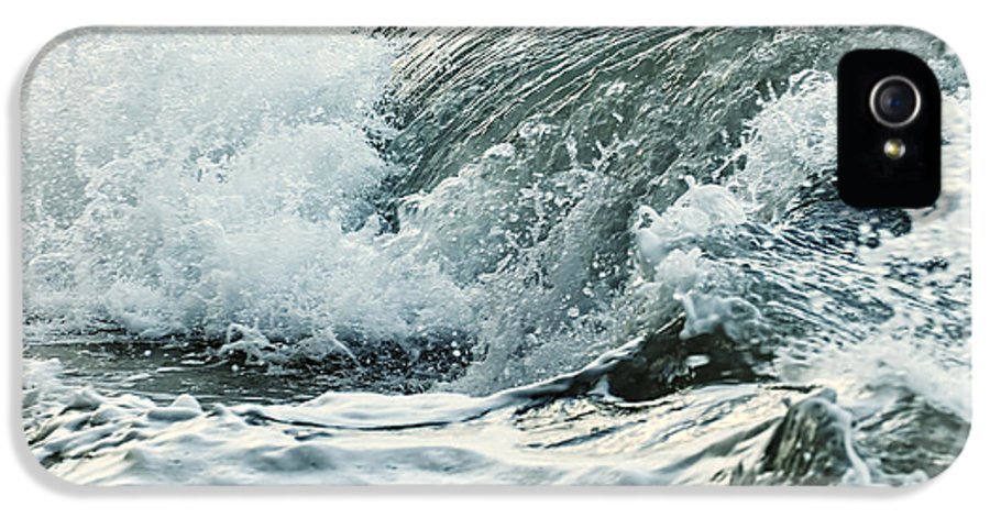 Wave IPhone 5 Case featuring the photograph Waves In Stormy Ocean by Elena Elisseeva