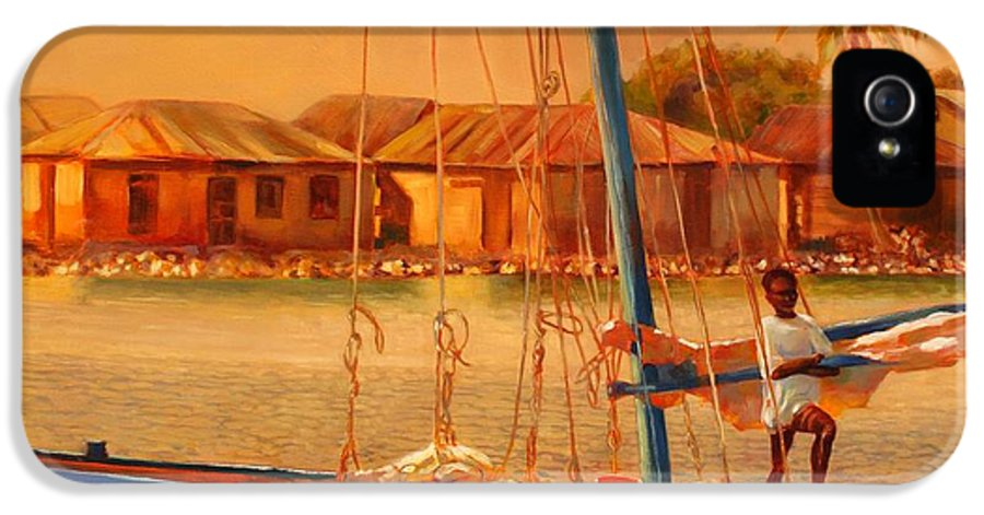 Sailboat IPhone 5 Case featuring the painting We Be Sailing by Sue Darius