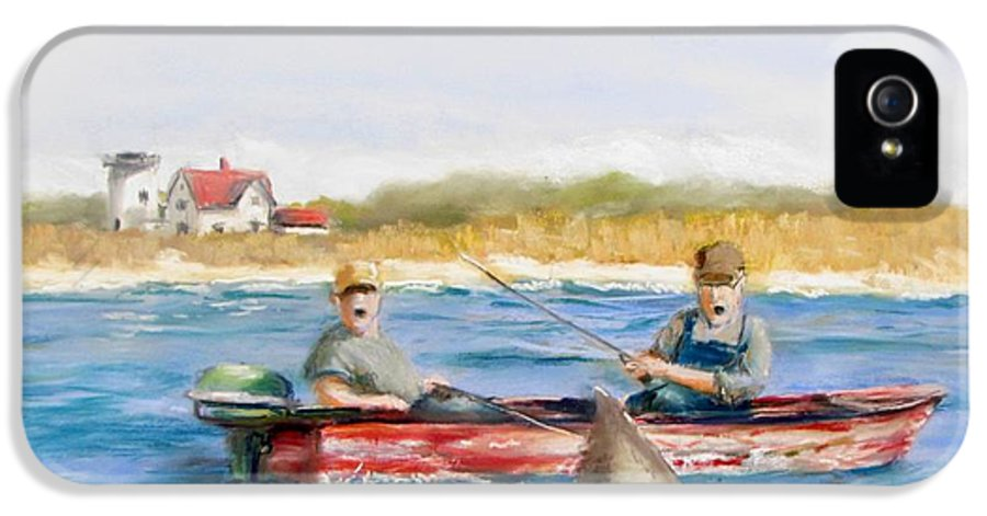 Boat IPhone 5 Case featuring the painting We Need A Biggah Boat by Jack Skinner