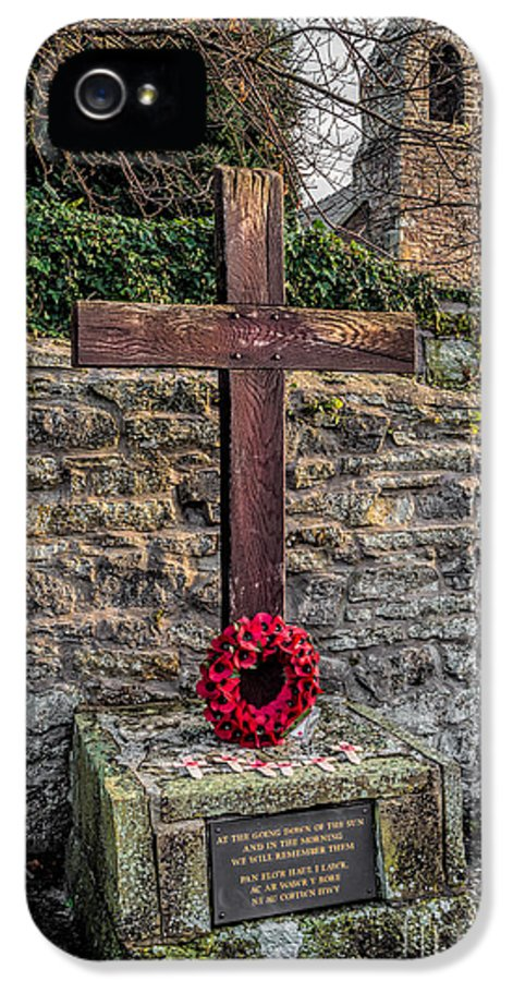 Armistice Day IPhone 5 Case featuring the photograph We Will Remember by Adrian Evans