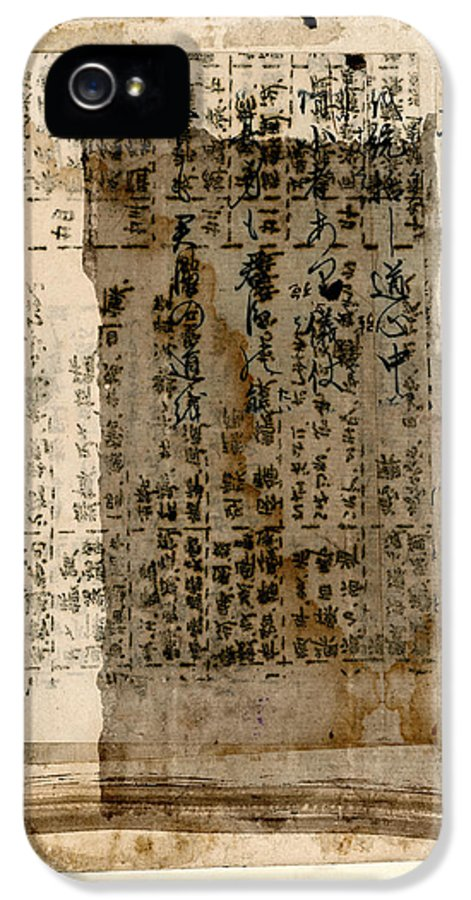 Japan IPhone 5 Case featuring the photograph Weathered Pages by Carol Leigh