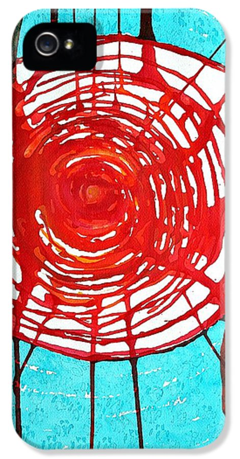 Web Of Life IPhone 5 Case featuring the painting Web Of Life Original Painting by Sol Luckman