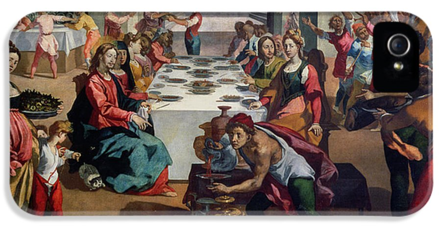 Feast IPhone 5 Case featuring the painting Wedding At Cana by Andrea Boscoli