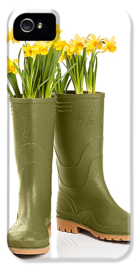 Spring IPhone 5 Case featuring the photograph Wellington Boots by Amanda Elwell