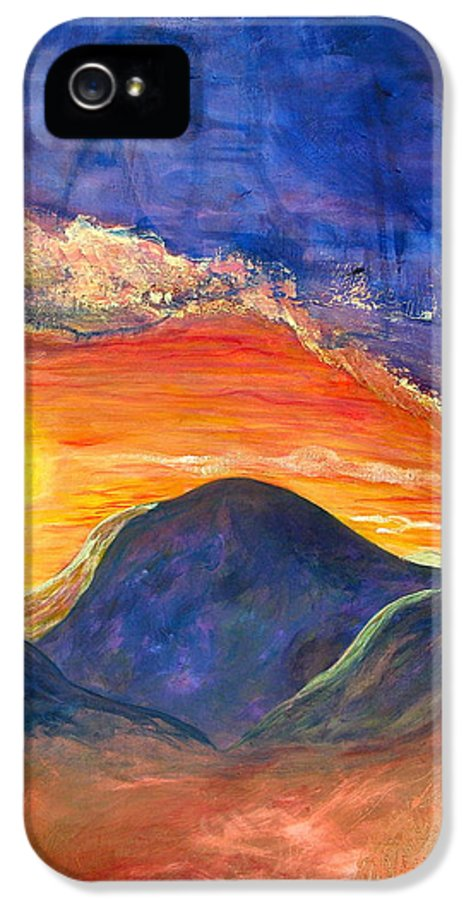 Joe Bourne IPhone 5 Case featuring the painting Westward Look by Joe Bourne