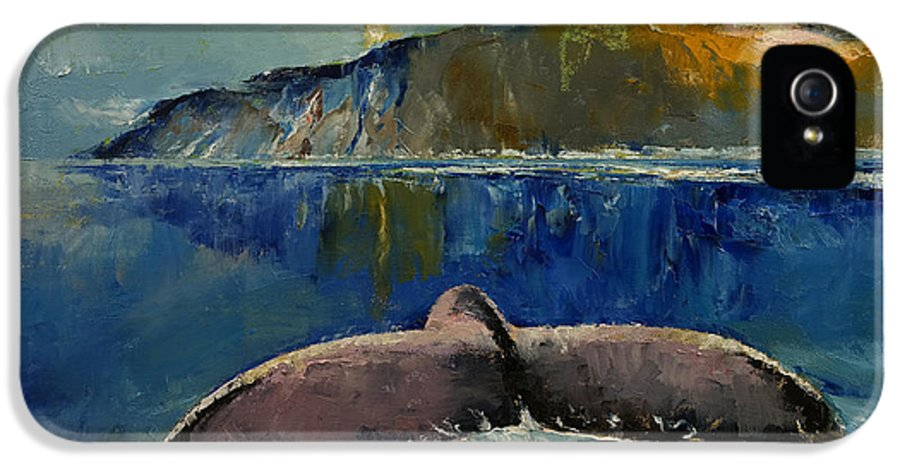 Whale IPhone 5 Case featuring the painting Whale Song by Michael Creese