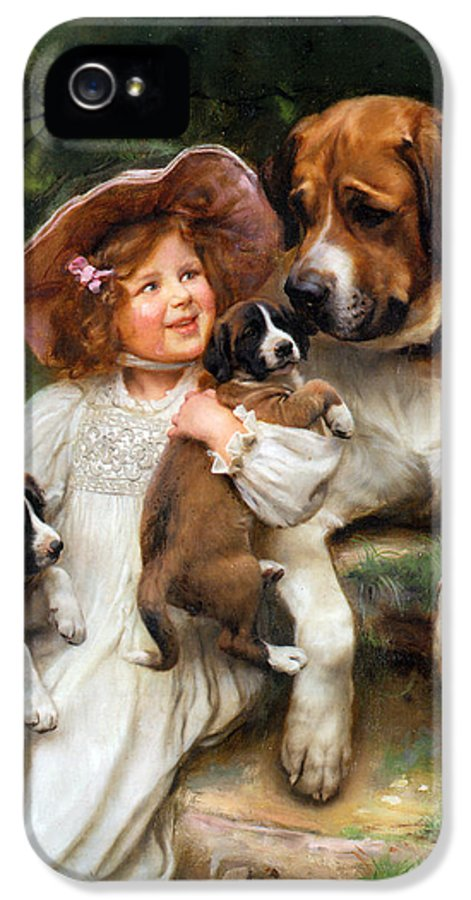 Little Girl IPhone 5 Case featuring the digital art Which May I Keep by Arthur John Elsley