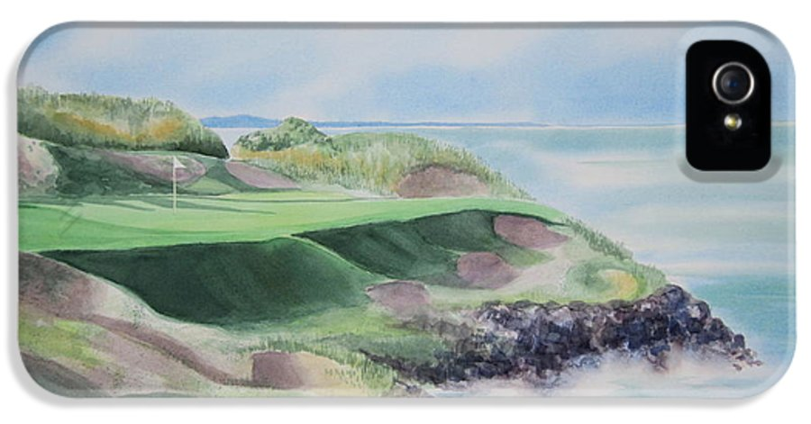 Whistling Straits IPhone 5 Case featuring the painting Whistling Straits 7th Hole by Deborah Ronglien