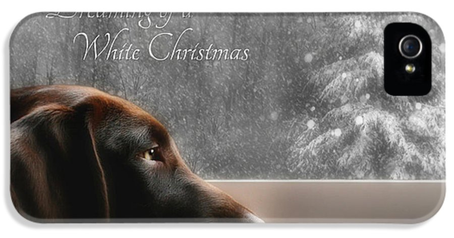 Sienna IPhone 5 Case featuring the photograph White Christmas by Lori Deiter