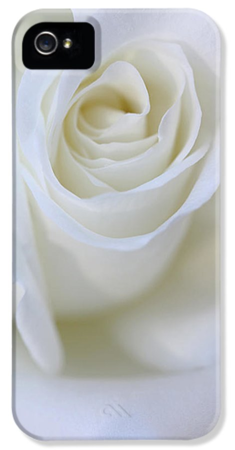 Rose IPhone 5 Case featuring the photograph White Rose Floral Whispers by Jennie Marie Schell
