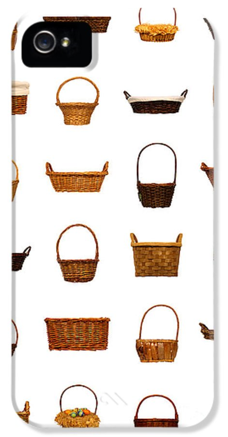 Basket IPhone 5 Case featuring the photograph Wicker Basket Collection by Olivier Le Queinec