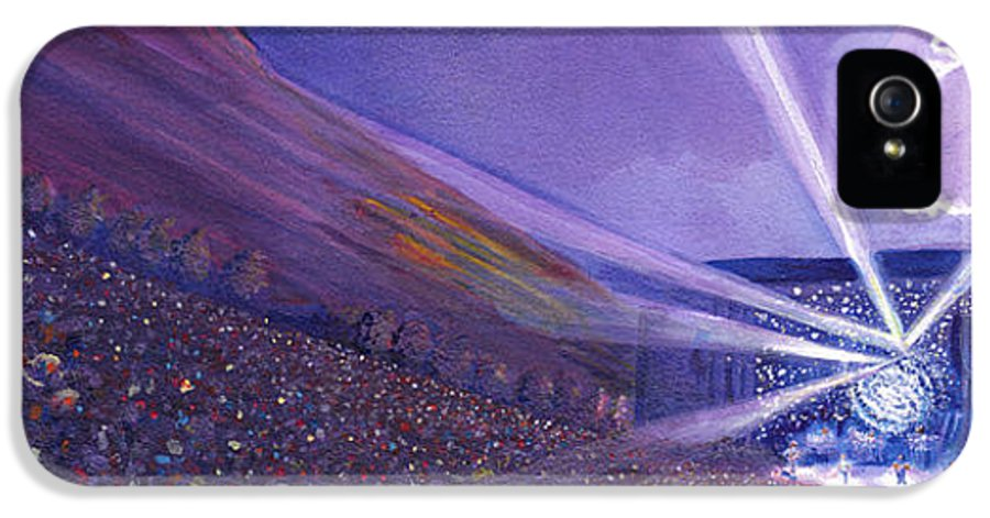 Widespread Panic IPhone 5 Case featuring the painting Widespread Panic Redrocks Lighting by David Sockrider