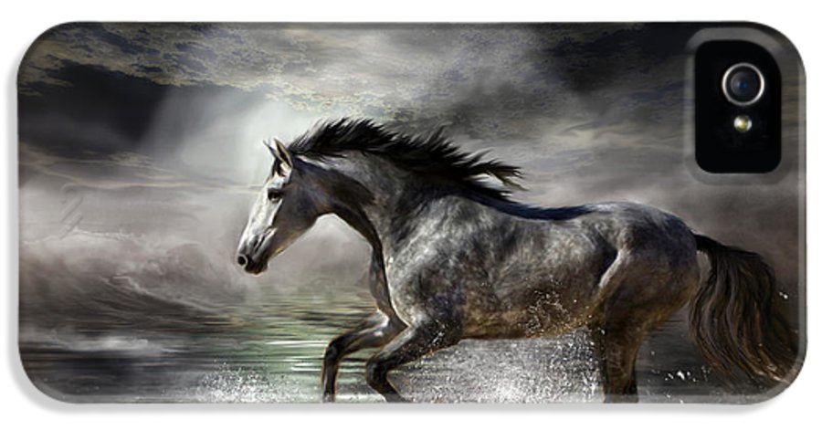 Horse IPhone 5 Case featuring the photograph Wild As The Sea by Carol Cavalaris