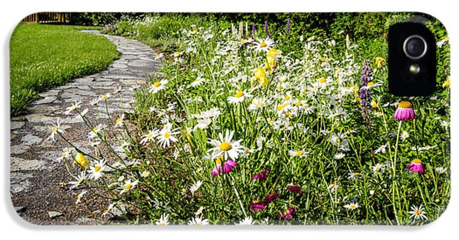 Garden IPhone 5 Case featuring the photograph Wildflower Garden And Path To Gazebo by Elena Elisseeva
