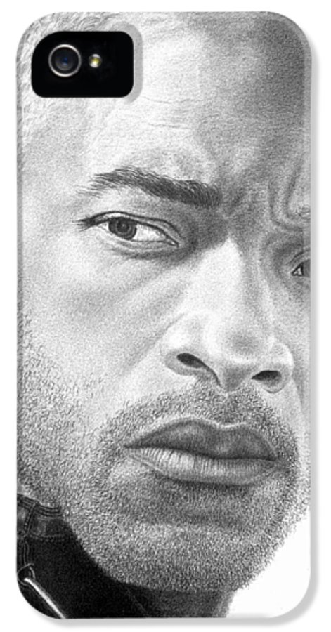 Portrait IPhone 5 Case featuring the drawing Will Smith by Marvin Lee