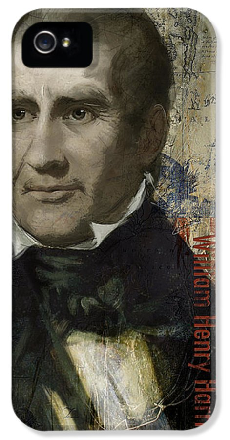 William Henry Harrison IPhone 5 Case featuring the painting William Henry Harrison by Corporate Art Task Force