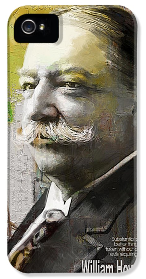 William Howard Toft IPhone 5 Case featuring the painting William Howard Taft by Corporate Art Task Force