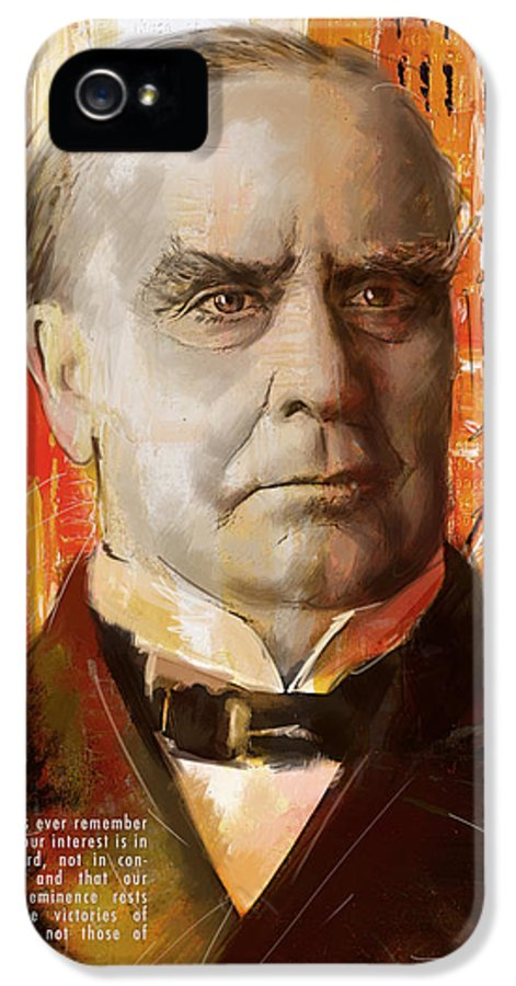 William Mckinley IPhone 5 Case featuring the painting William Mckinley by Corporate Art Task Force