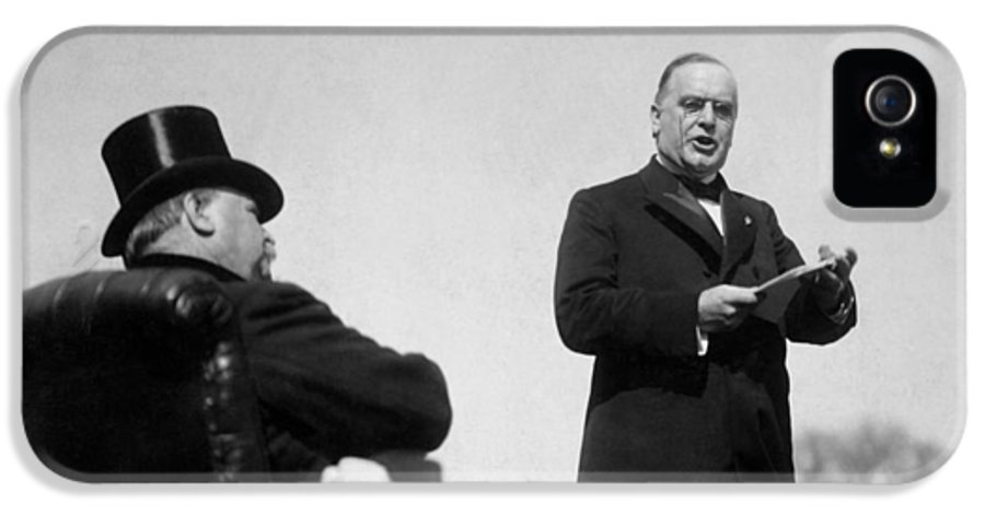 William Mckinley IPhone 5 Case featuring the photograph William Mckinley Making His Inaugural Address by War Is Hell Store