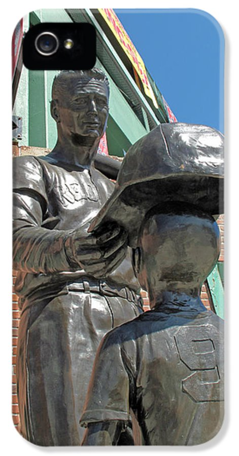 Statue IPhone 5 Case featuring the photograph Williams And The Boy by Barbara McDevitt