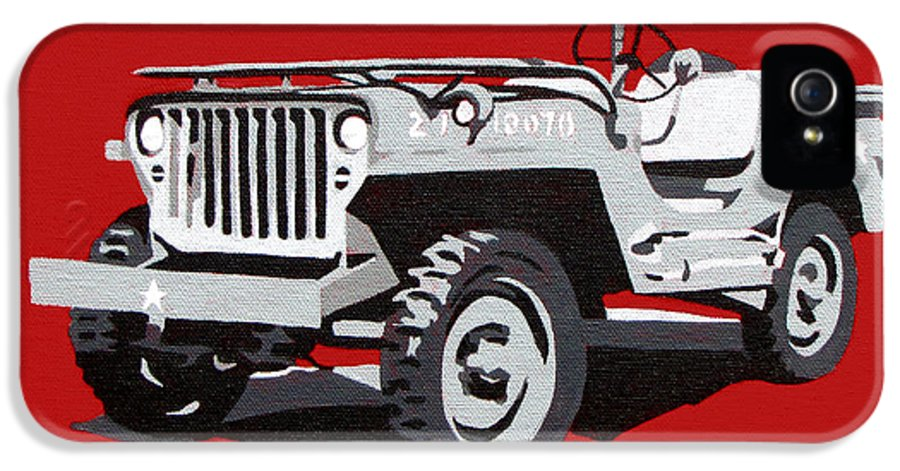 Willys Jeep IPhone 5 Case featuring the painting Willys Jeep by Slade Roberts