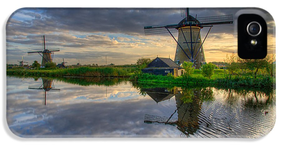 Windmill IPhone 5 Case featuring the photograph Windmills by Chad Dutson