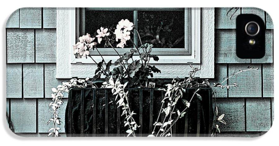 Flower Basket IPhone 5 Case featuring the photograph Window Dresser by Bonnie Bruno