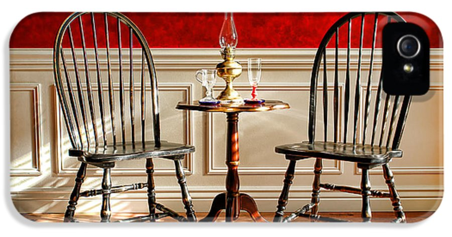 Windsor IPhone 5 Case featuring the photograph Windsor Chairs by Olivier Le Queinec