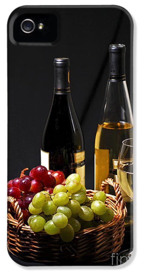 Wine IPhone 5 Case featuring the photograph Wine And Grapes by Elena Elisseeva