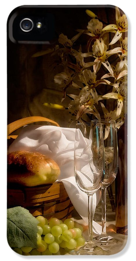Wine IPhone 5 Case featuring the photograph Wine And Romance by Tom Mc Nemar