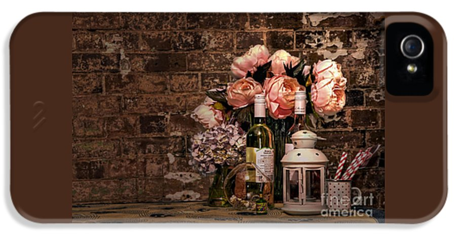 Photography IPhone 5 Case featuring the photograph Wine And Roses by Kaye Menner