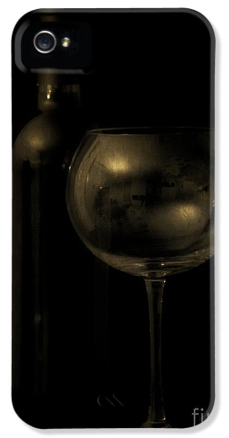 Wine IPhone 5 Case featuring the photograph Wine Bottle Still Life Deep Red by Edward Fielding